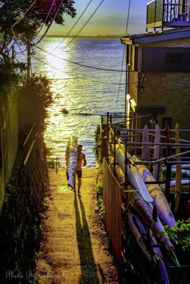 インスタ映えする撮り方とアイテム「~江ノ島~西浦漁港の光の小路」の場合