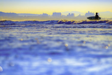 鎌倉・江ノ島の海岸撮影で潮と風砂を防御する100円グッズ